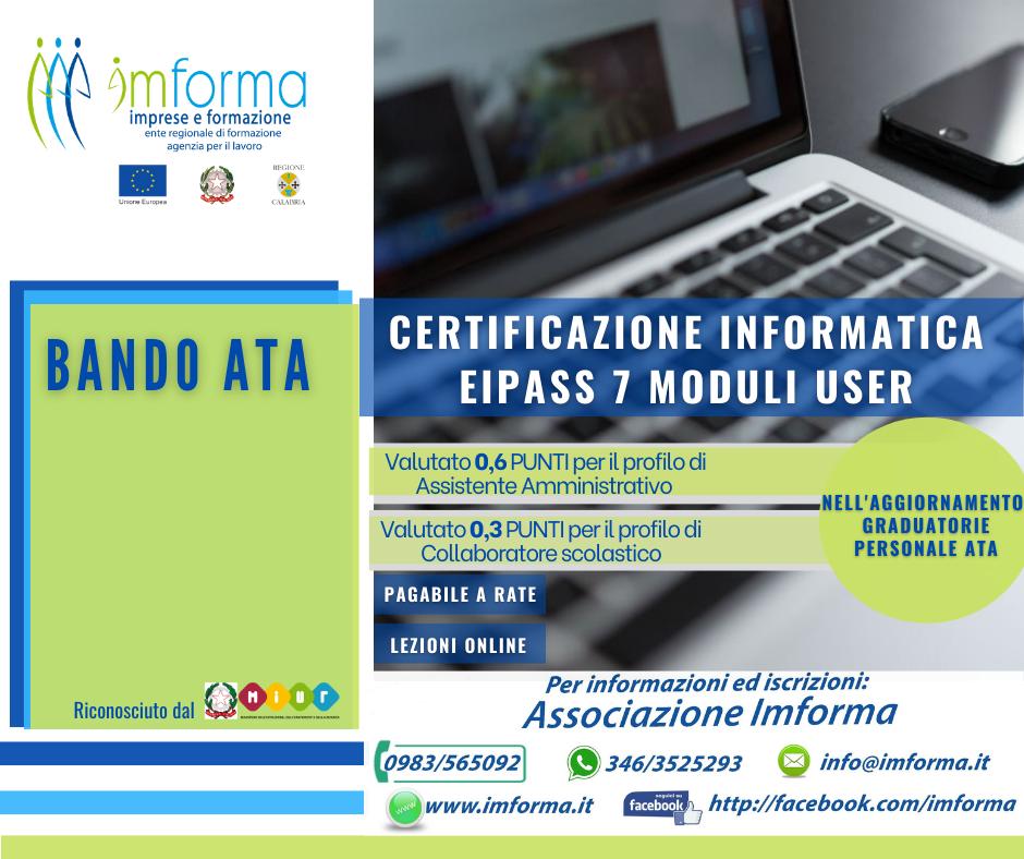 Certificazione Informatica EIPASS 7 Moduli User  Image