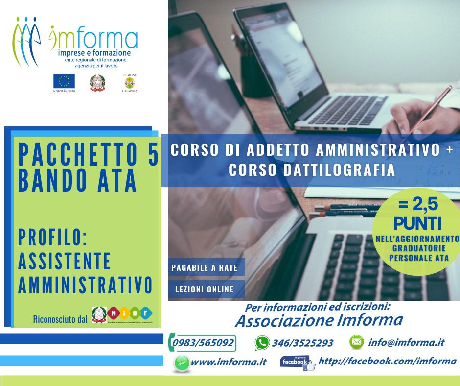 Pacchetto 5 - Addetto amministrativo + Dattilografia Image